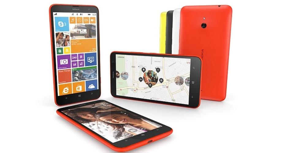 Lumia 1320 e 1520 têm mesmo peso e tamnaho: 209 gramas e 16,2 x 8,5 x 0,87 cm