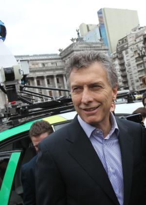O candidato da oposição Mauricio Macri
