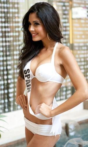23.out2.2013 - Patricia Rodriguez, Miss Universo Espanha, posa de biquíni em hotel de Moscou, na Rússia. O Miss Universo 2013 acontece no dia 9 de novembro e tem mais de 80 candidatas