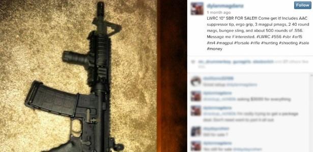 Perfil no Instagram faz oferta de rifle LWRC; termos de uso da rede social não proíbem a prática