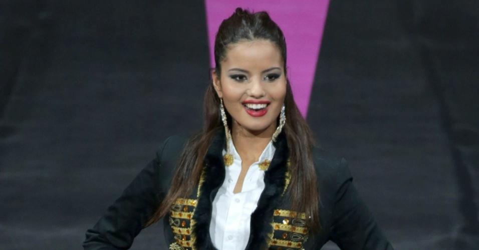 4.nov.2013 - Melita Fabecic, Miss Croácia, em traje típico do país