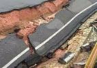 Com chuva forte, asfalto cede em avenida de Aracaju - Aracaju como te vejo/Facebook