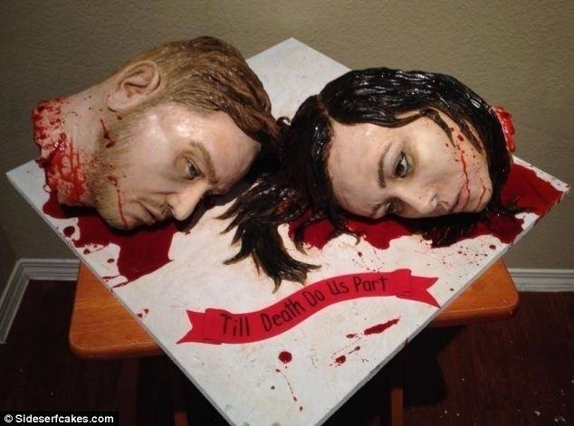 Bolos para ocasiões nada apropriadas Piores bolos de casamento do