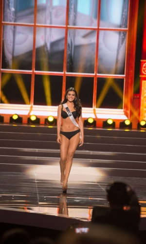 5.nov.2013 - Cynthia Duque, Miss Universo México 2013 desfila de biquíni durante Competição Preliminar do Miss Universo. A final acontece neste sábado (9) em Moscou, na Rússia