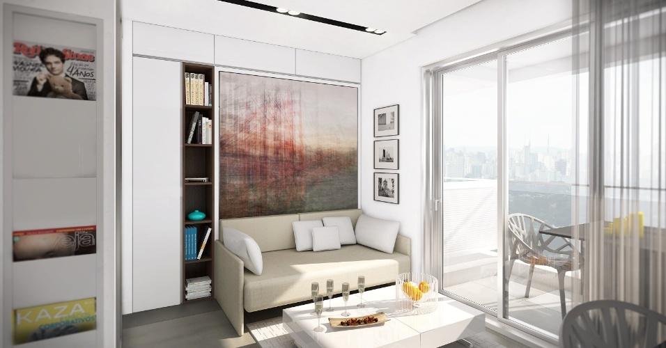 decoracao de sala humilde : decoracao de sala humilde:projeto interno de apartamento de 19m² desenvolvido pelo arquiteto