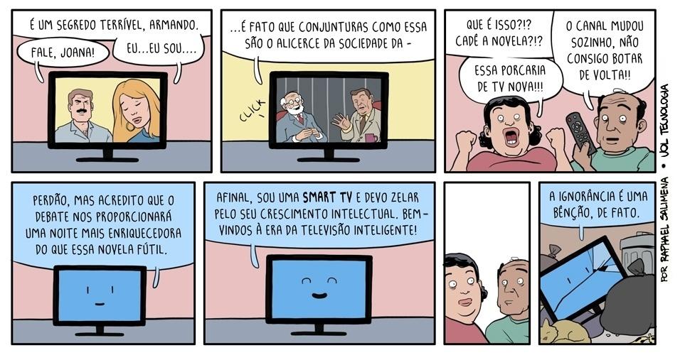 9.nov.2013 - ''Televisão inteligente''