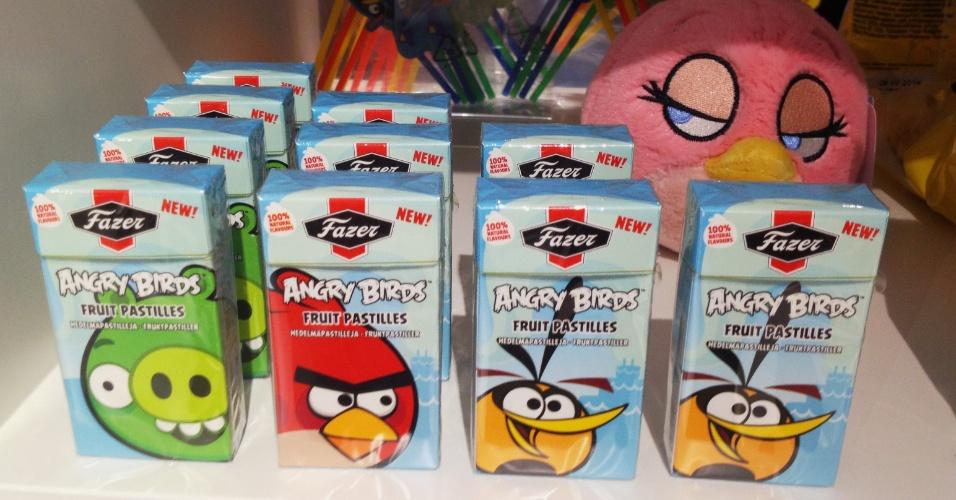 Balas do ''Angry Birds'' são vendidas em loja conceito na sede da Rovio em Espoo, Finlândia