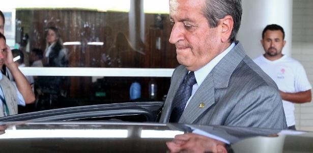 O ex-deputado federal Valdemar Costa Neto (PR-SP), condenado no processo do mensalão, na Câmara dos Deputados em novembro