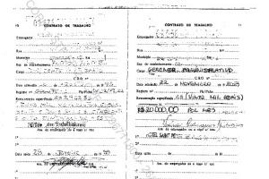 Carteira de trabalho do ex-ministro José Dirceu em hotel em Brasília. O salário será de R$ 20 mil