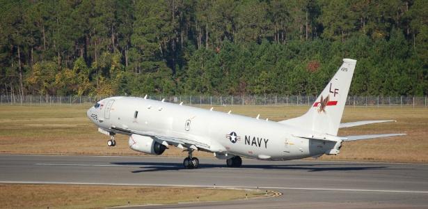 Avião P-8 Poseidon da Marinha americana que foi enviado para o Japão