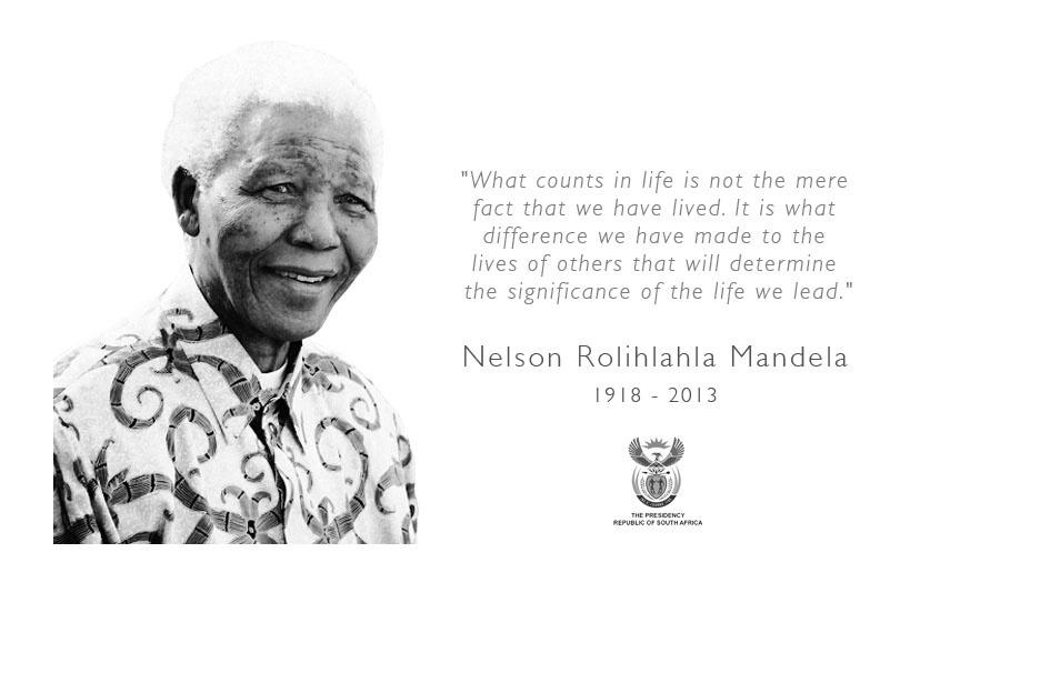 05.dez.2013 - Página oficial do governo da África do Sul traz foto e mensagem do ex-presidente Nelson Mandela, que morreu aos 95 anos nesta quinta-feira (5)