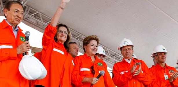 Presidente, Dilma Rousseff e o então governador de Pernambuco, Eduardo Campos (PSB), em foto do ano passado