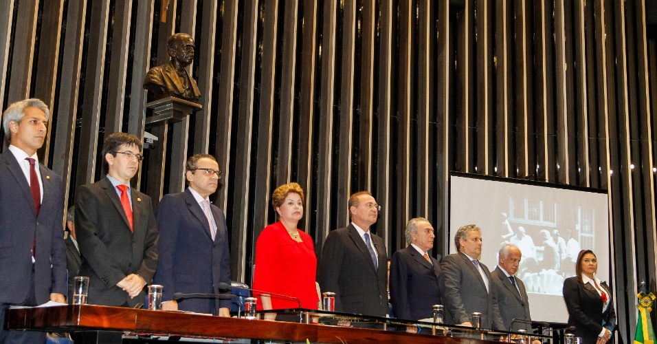 18.dez.2013 - sessão solene do Congresso Nacional destinada à devolução simbólica do mandato presidencial a João Goulart