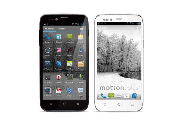 Smartphone Motion Plus SK504, da CCE, tem sistema Android, processador quad-core (quatro núcleos) e é dual-chip