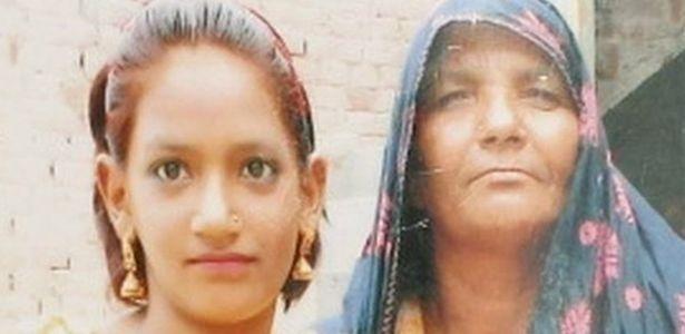 Menina paquistanesa Iram (esquerda) tinha apenas dez anos de idade