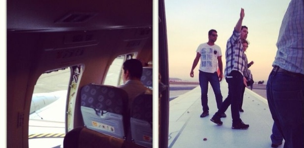 Passageiros forçam portas de emergência de avião da Gol e sobem em uma das asas após atraso