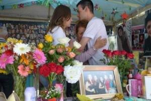 Fani Torres chora morte da filha em Santa Maria há um ano