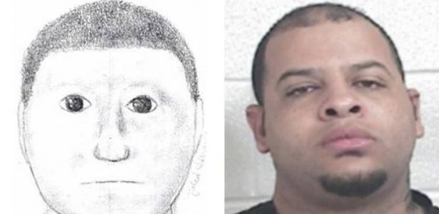 O suspeito não se parece muito com o retrato falado, mas foi preso mesmo assim