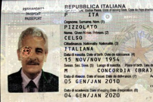 A Interpol divulgou em seu site uma imagem do passaporte encontrado com Henrique Pizzolato, na Itália