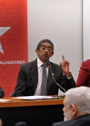 Deputado Vicentinho(PT-SP) durante reunião do PT