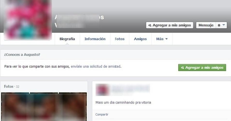 11.fev.2014 - Perfil na rede social Facebook, criado por detento do presídio Professor Jacy de Assis, em Uberlândia (537 km de Belo Horizonte, MG), em dezembro do ano passado, é alimentado de dentro das dependências da unidade