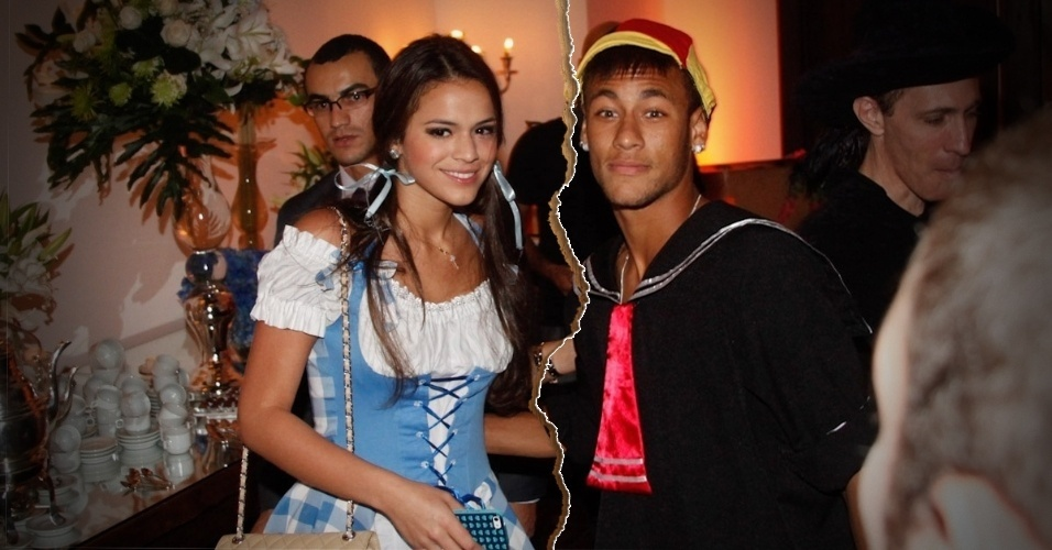 Neymar - O jogador de futebol terminou o relacionamento com a atriz Bruna Marquezine e vai passar o Valentine's Day sozinho, milionário, em uma mansão, em Barcelona (Espanha), esperando a Copa chegar. Mais ou menos isso