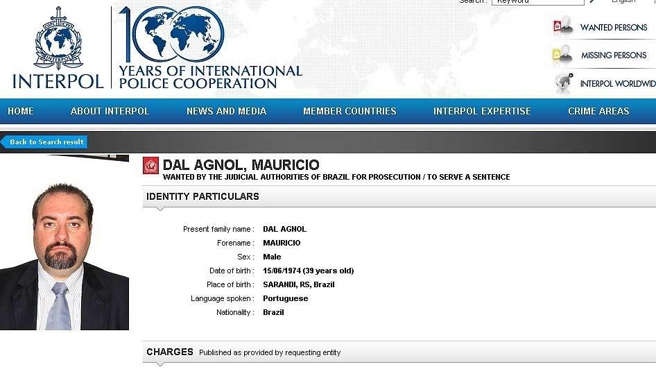 21.fev.2014 - O advogado Maurício Dal Agnol, procurado pela Polícia Federal e pela Interpol. Ele é suspeito de liderar um grupo de advogados que aplicou golpes em mais de 30 mil clientes no Rio Grande do Sul