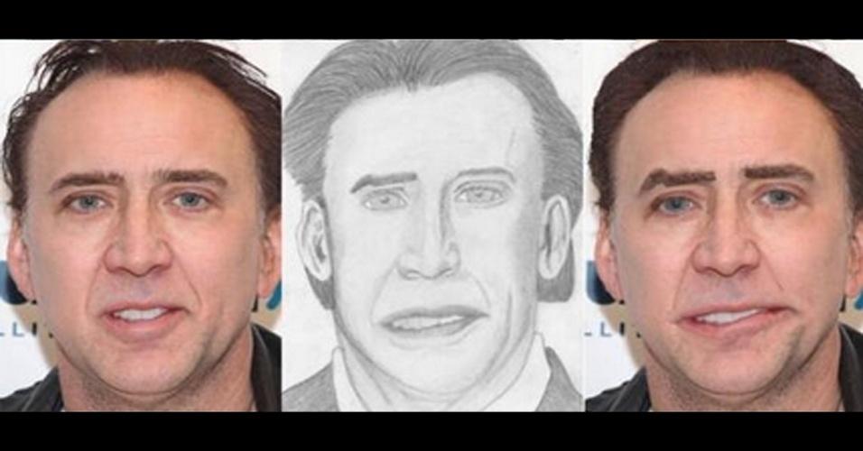 O usuário do Twitter @JamieDMJ usou o Photoshop para deixar celebridades parecidas com o desenho de seus fãs. O critério de seleção, segundo ele, foram as ''piores obras de arte criadas por fãs''. Acima, o ator