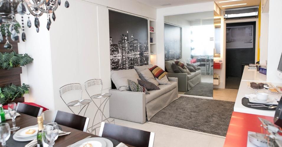 Sala vira quarto, e cozinha vira escrit?rio em apartamento ...