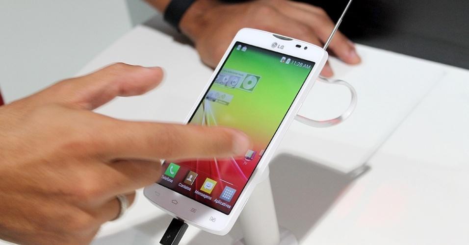 Smartphone LG L80 tem processador dual-core, tela de 5 polegadas e recurso de TV digital