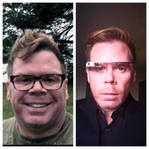 Imagem mostra diferença de Chris Dancy. A foto da esquerda foi tirada em 2012, enquanto a da direita é de 2014. Dancy diz que perdeu 45 kg após começar a usar sistemas de monitoramento