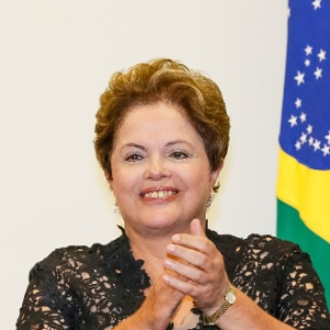 A presidente Dilma Rousseff em cerimônia no Palácio do Planalto