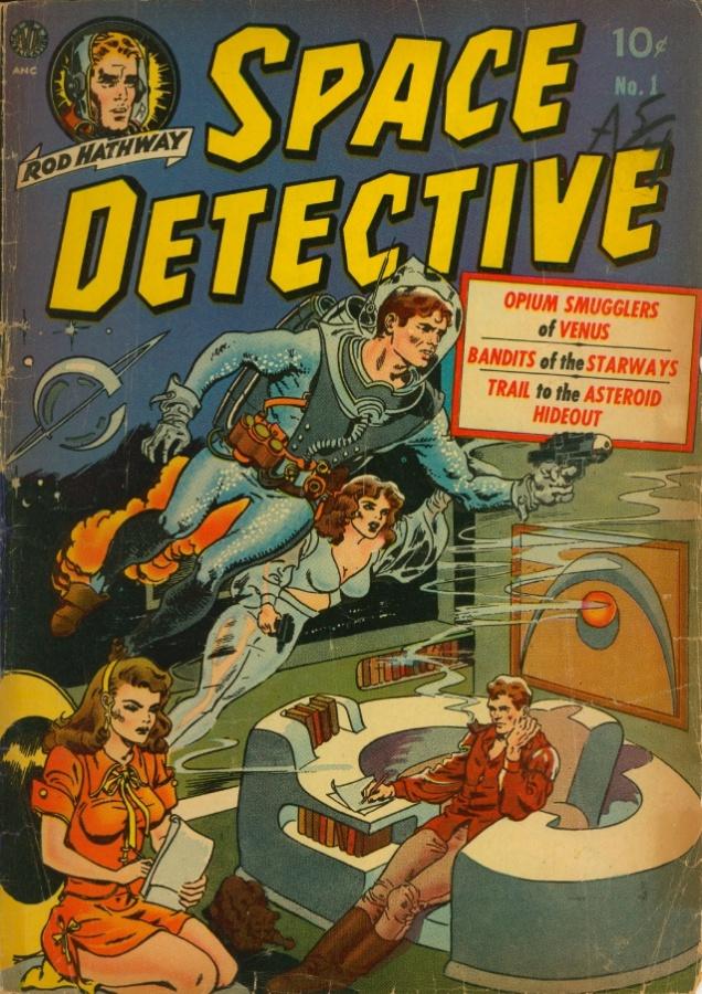 """11.abr.2014 - No HQ """"Space Detective"""", Rod Hathway combate a corrupção e a pirataria em todo o Sistema Solar"""