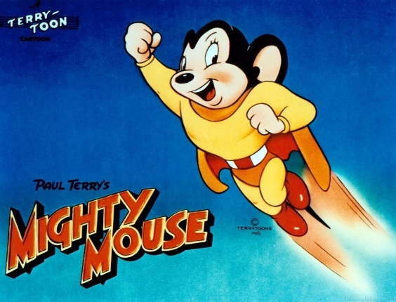 11.abr.2014 - De 1944 até 1961, o Might Mouse combateu diversos inimigos, que geralmente eram gatos. Sua base era localizada na Lua, que por sua vez era toda de queijo