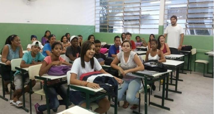 Projeto ConservAção, idealizador professor Pedro Usai, escola estadual Roberto Amaury Galliera, em Morrinhos, no Guarujá (SP)
