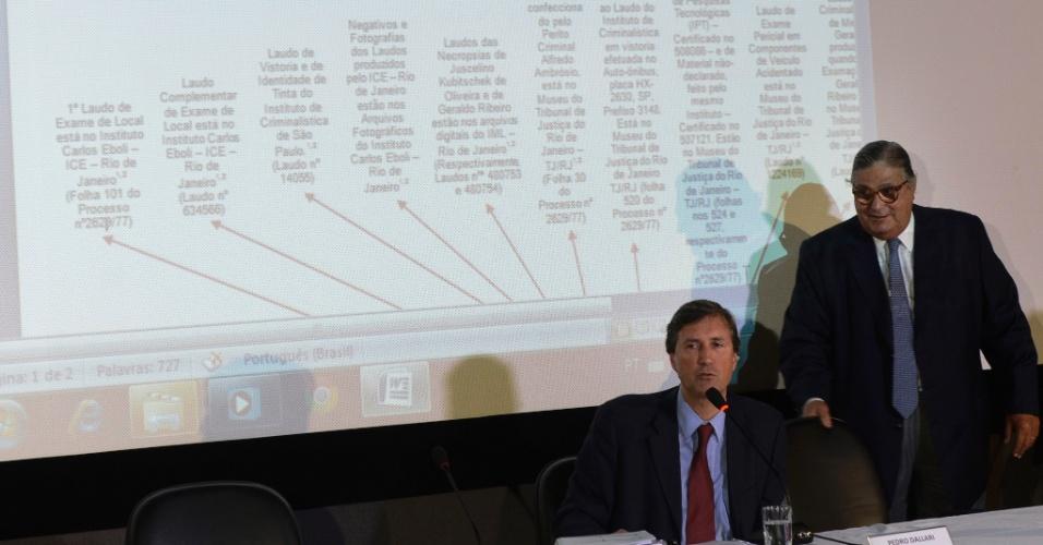 22.abr.2014 - Pedro Dallari, coodenador da CNV (Comissão Nacional da Verdade), divulga o relatório parcial de pesquisa do caso Juscelino Kubitschek. A CNV concluiu que o ex-presidente Juscelino Kubistchek não foi assassinado pela ditadura militar e que sua morte foi acidental. Relatório parcial sobre a apuração da morte de JK foi apresentado pela comissão nesta terça-feira (22) em Brasília