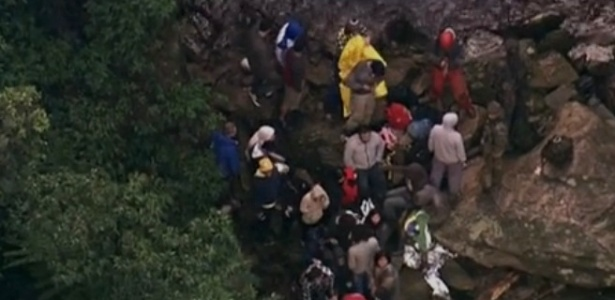 Grupo foi encontrado em local de difícil acesso próximo a cachoeira, em trilha da Serra do Mar