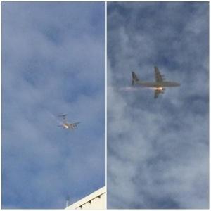 O avião transportava 97 pessoas; ninguém ficou ferido