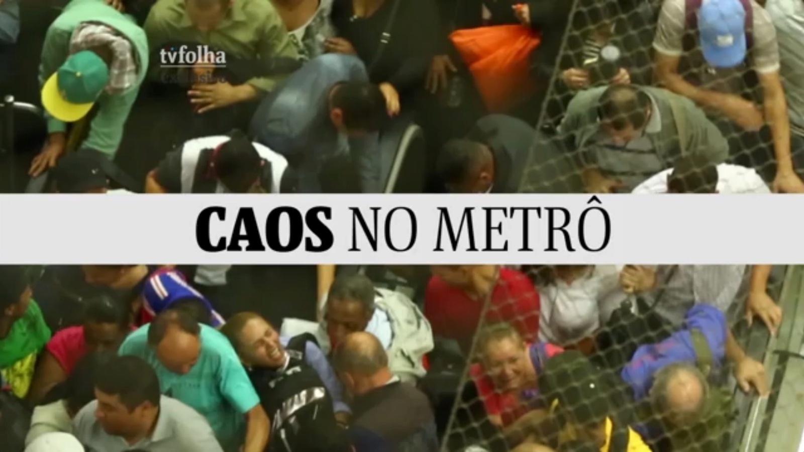Em dia de greve dos rodoviários em São Paulo, estações do metrô ficaram lotadas, obrigado usuários a se apertarem para conseguir chegar aos trens na volta para casa