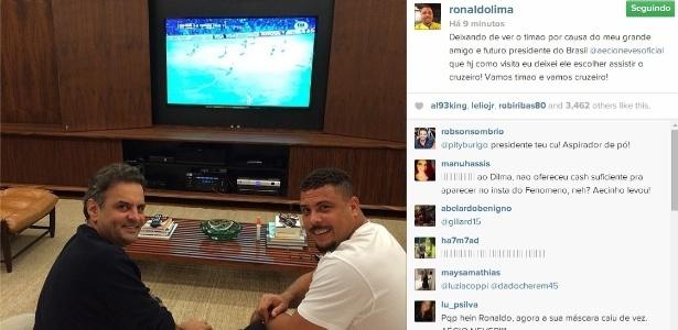 Ronaldo contou que Aécio Neves o queria como ministro do Esporte