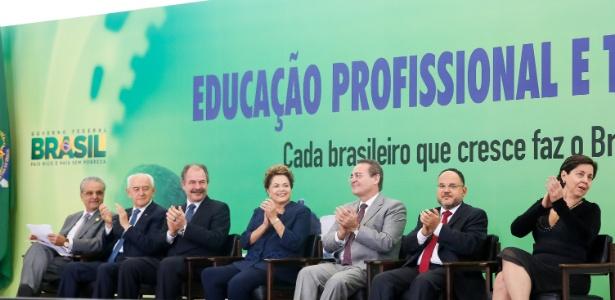 18.jun.2014 - A presidente Dilma Rousseff participa do lançamento da segunda etapa do Pronatec