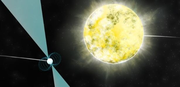 Astrônomos identificam estrela feita de diamante do tamanho da Terra