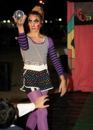 Luana durante apresentação em Sorocaba (SP) em maio deste ano
