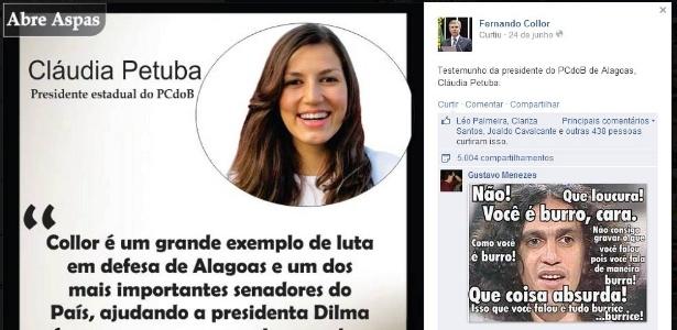 Presidente do PC do B de Alagoas anuncia apoio a Collor em Alagoas