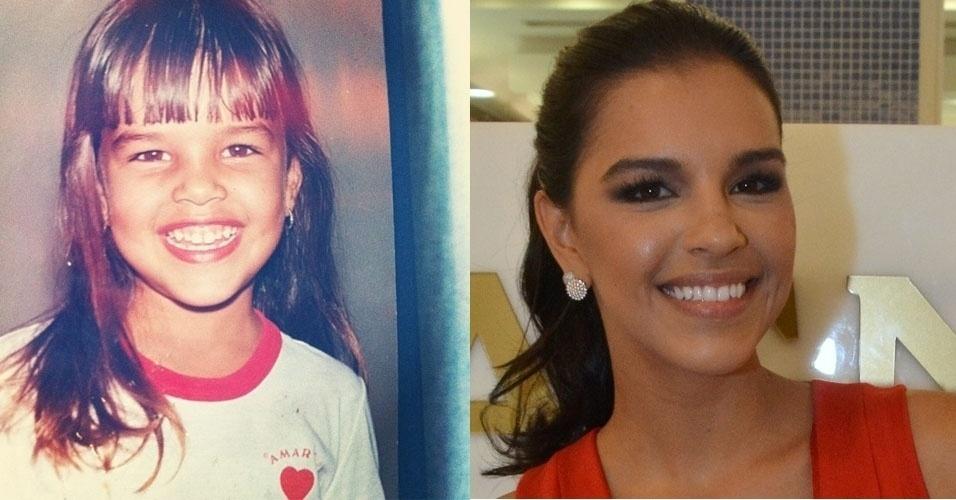 Mariana Rios na época da escola