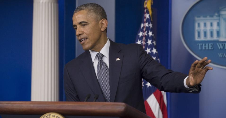 18.jul.2014 - O presidente dos EUA, Barack Obama, afirmou nesta sexta-feira (18) que
