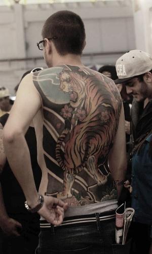 19.jul.2014 - Convenção de tatuagem Tatoo Week 2014 acontece neste final de semana de semana no Expo Center Norte, zona norte da capital paulista