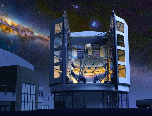 Ilustração do Telescópio Gigante Magalhães que será construído em 2015