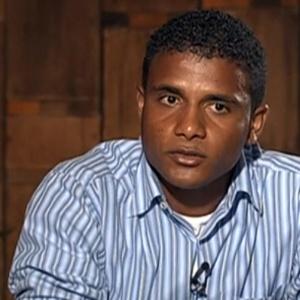 """Jorge Rosa Sales, primo do goleiro Bruno, durante entrevista ao """"Fantástico, da TV Globo, em 2013"""