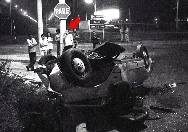 Foto inédita liga o coronel do Exército Freddie Perdigão à cena do acidente de carro que matou a estilista Zuzu Angel, em 1976